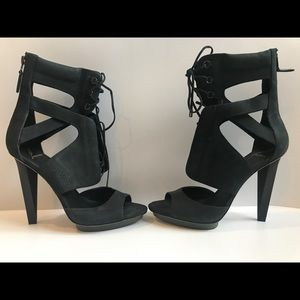 B Brian Atwood Lace Up Booties